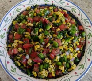 April 2019 — Corn and Tomato Salsa